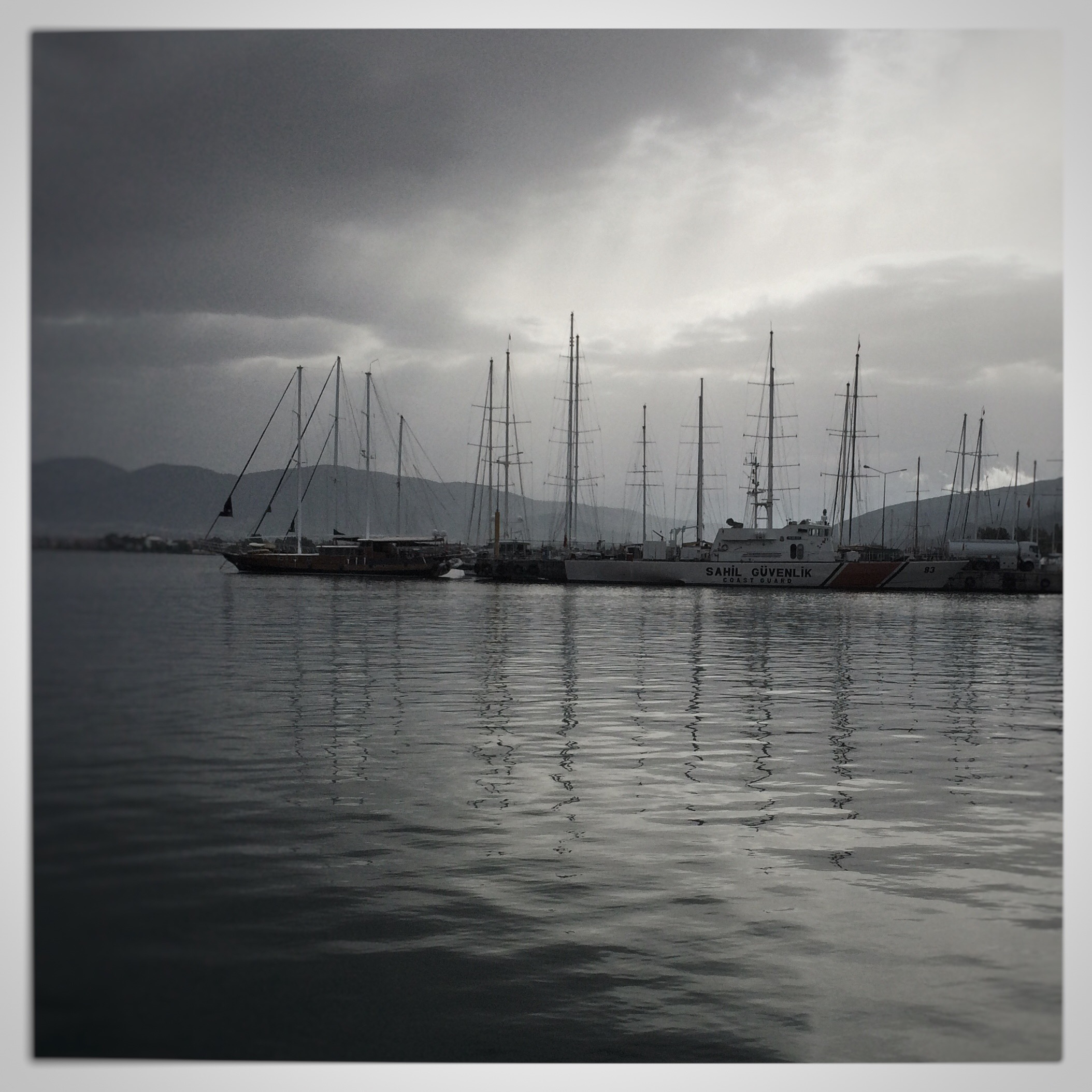 Regen im Hafen von Marmaris